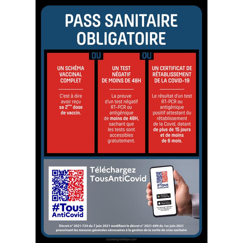 Panneau pass sanitaire obligatoire 1